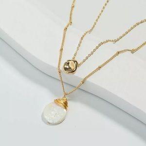 Jewelry - Ara Multi Layered Boho Gold and Shell Necklace